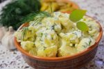 Potato salad with mayonnaise
