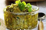 Pesto with coriander leaves