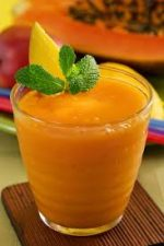 Smoothie with banana and pumpkin