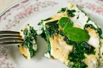 Frittata with feta and spinach
