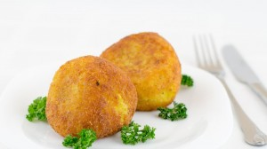 Arancini-fried rice Balls stuffed with meat
