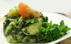 Spinach with potatoes Saute
