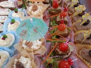 Delicious appetizer platter