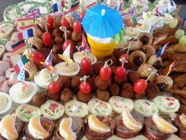 Platou cu aperitive festive