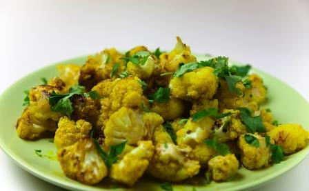 Cauliflower and potato curry,