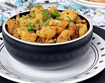 Cauliflower , potato and  curry